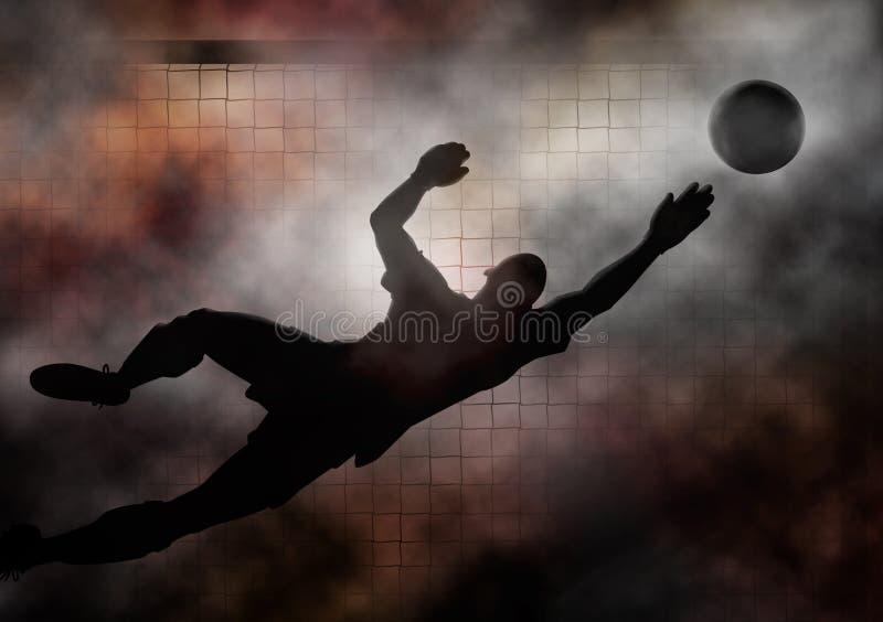 Goalkeeper stock illustration