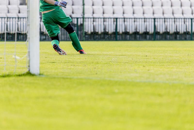 Goalkeeper et action photo libre de droits