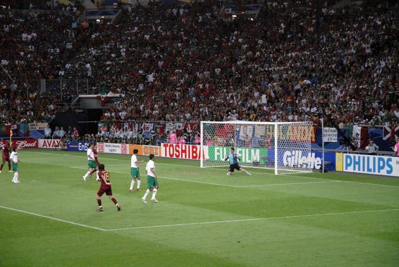 Goalkeeper Defence @ Soccer Stadium, Germany stock photo