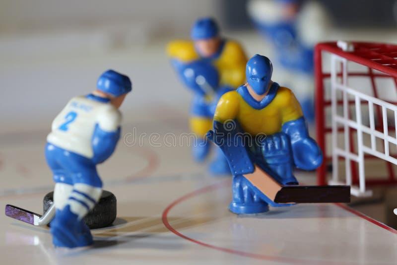 Goalkeeper in ice hockey royalty free stock image