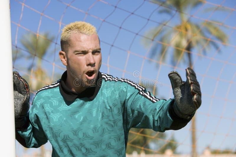 Download Goalkeeper Screaming For Corner Shot Stock Image - Image: 29646699