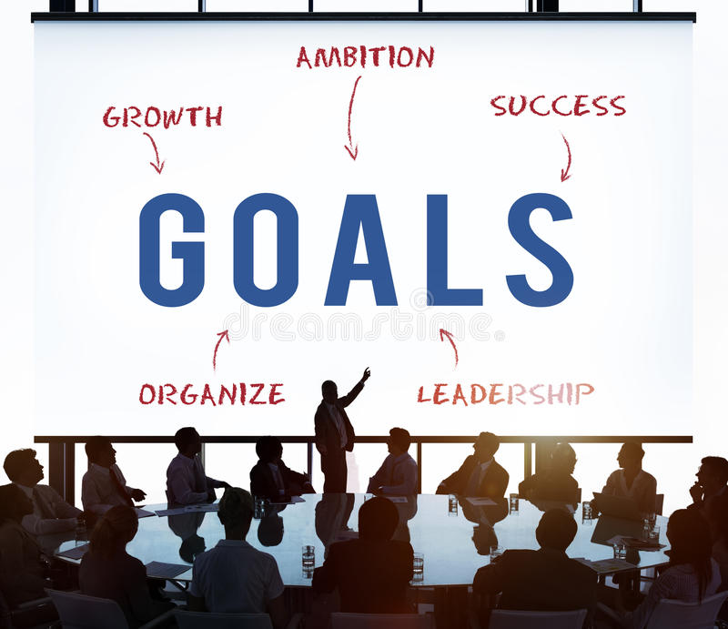 Goals έννοια μάρκετινγκ Business Company στρατηγικής στοκ εικόνα με δικαίωμα ελεύθερης χρήσης