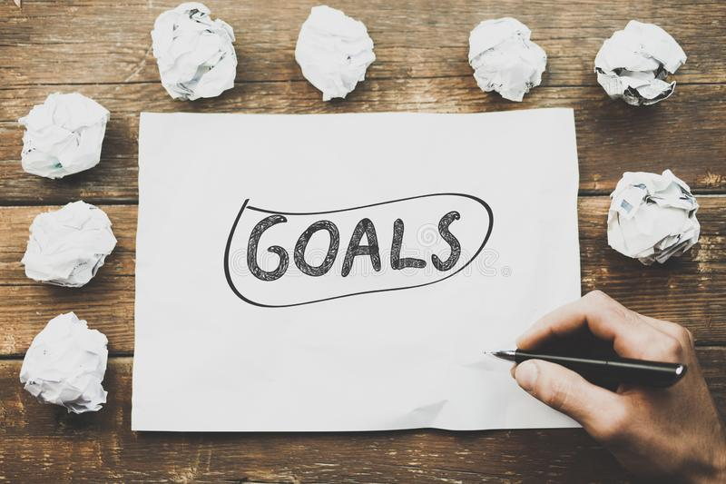 Goals concept stock photography
