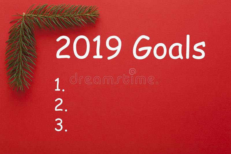 2019 Goals Concept royalty free stock images
