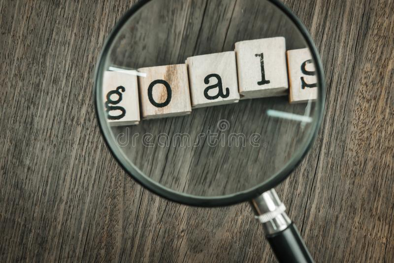 Goals concept key for success in business royalty free stock images