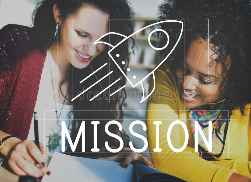 Goals Ideas Mission Spaceship Concept royalty free stock images