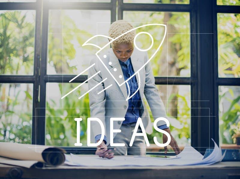 Goals Ideas Mission Spaceship Concept stock photos