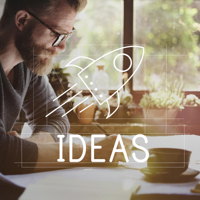 Goals Ideas Mission Spaceship Concept. People Goals Ideas Mission Spaceship royalty free stock image