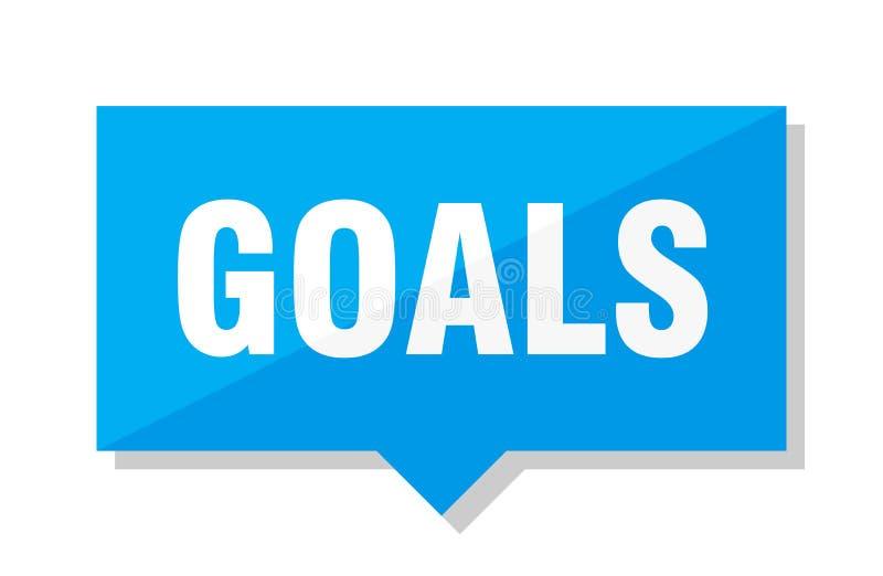 Goals price tag vector illustration