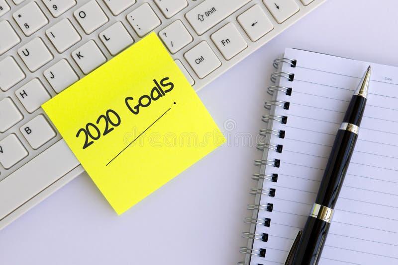 2020 Goals stock photography