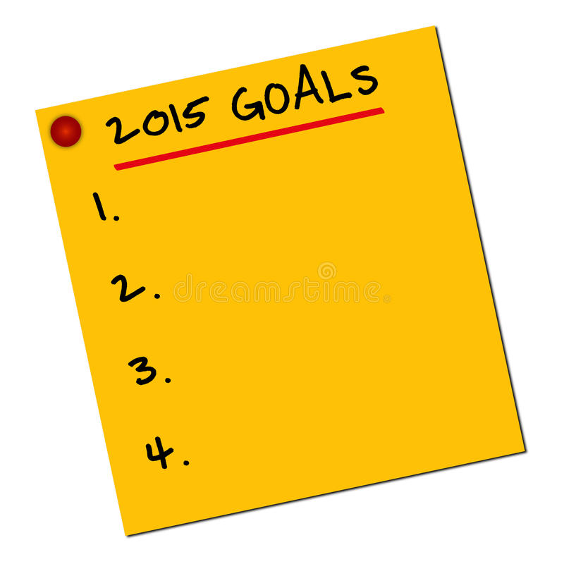 2015 goals stock images