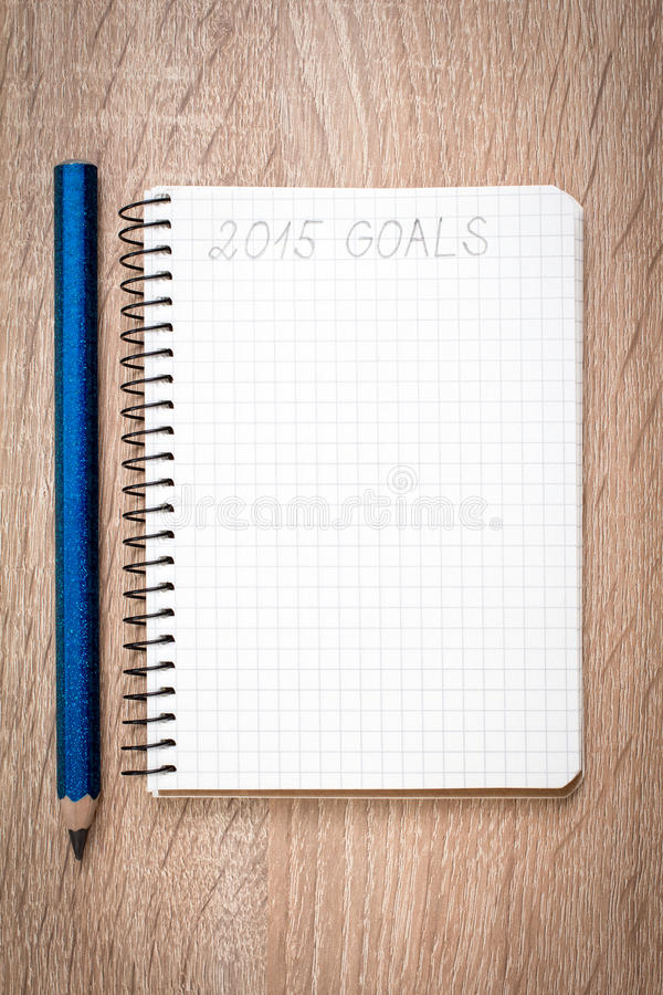 Goals of year 2015 stock images