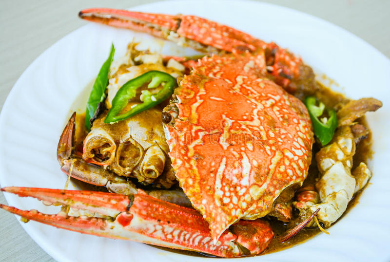 Goan Crab Curry. Is made from fresh whole crabs cooked in spicy gravy royalty free stock images