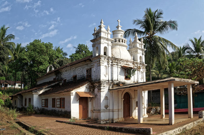 Goan-Kirche stockfotografie