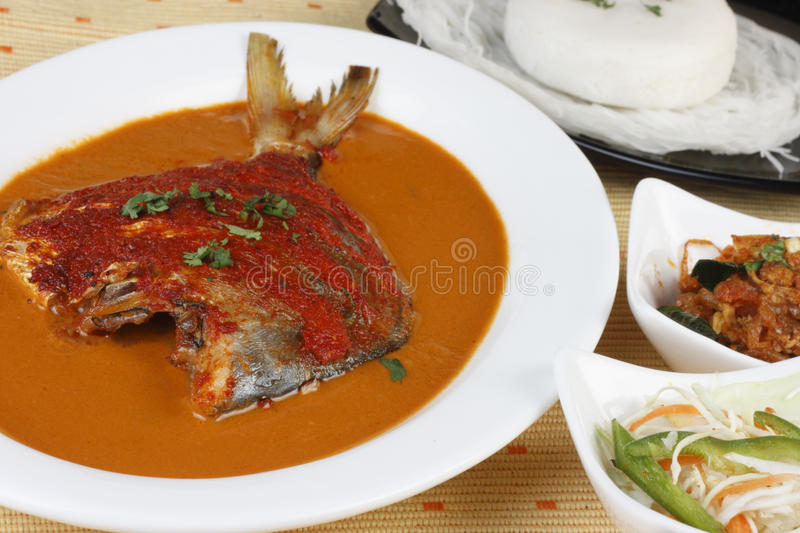 Goan Pomfret Curry or Goan fish curry royalty free stock photos