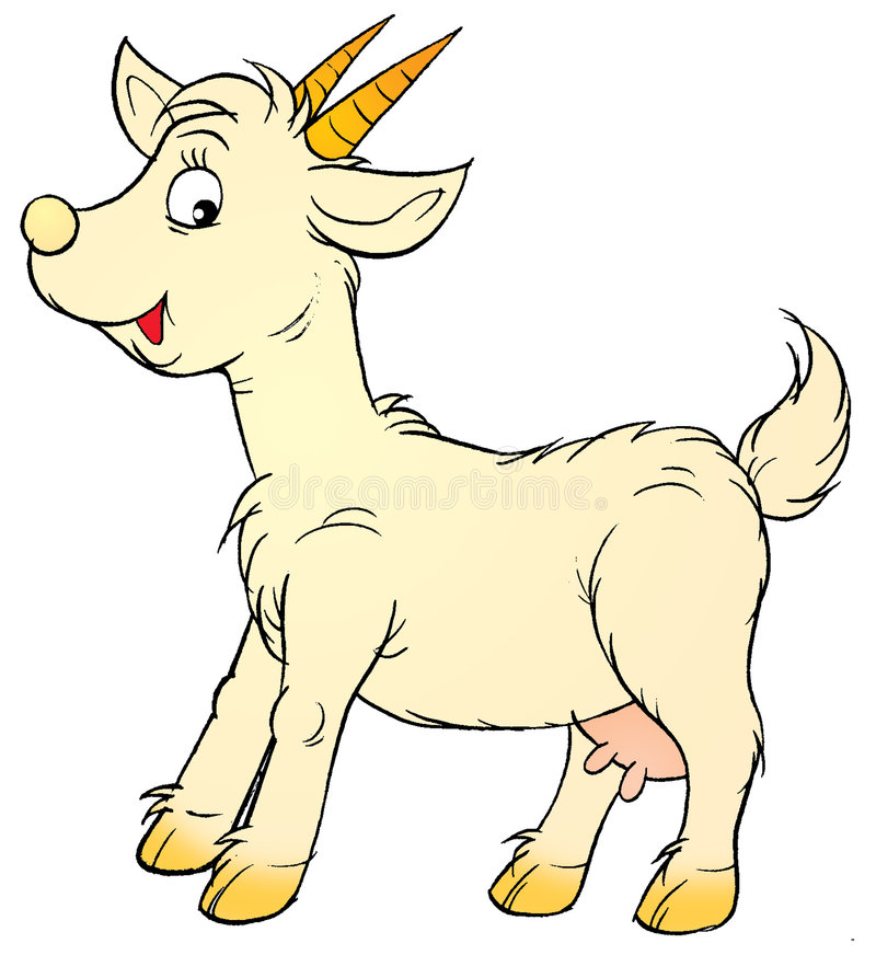 Goat stock illustration. Image of game, isolated, horn ...