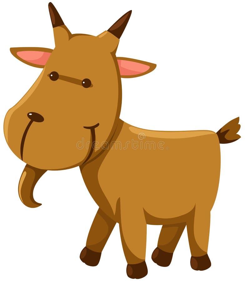 Goat. Illustration of isolated a goat on white background vector illustration