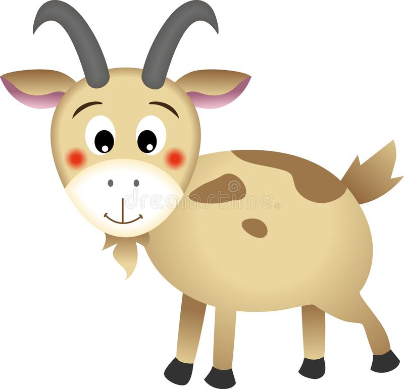 Goat. Image representing a goat, isolated on white, vector design stock illustration