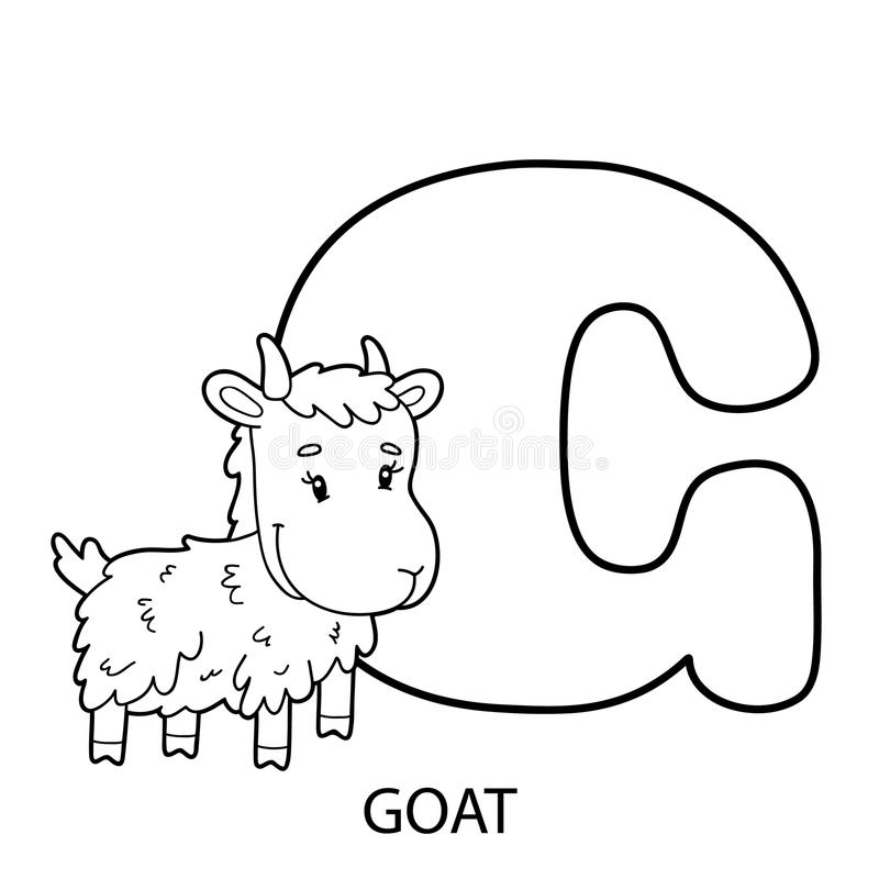 Download Goat Alphabet Coloring Page Stock Vector