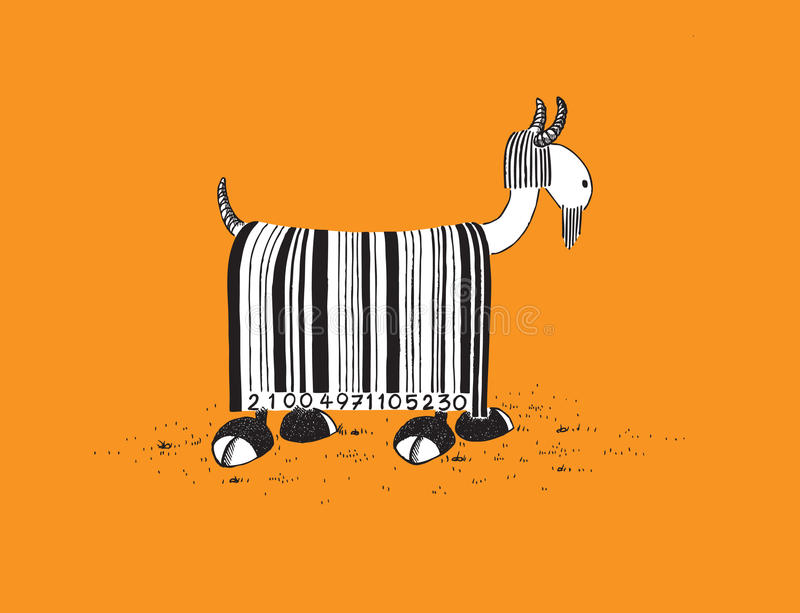 Download Goat with Barcode Hair stock vector. Illustration of illustration - 14402276