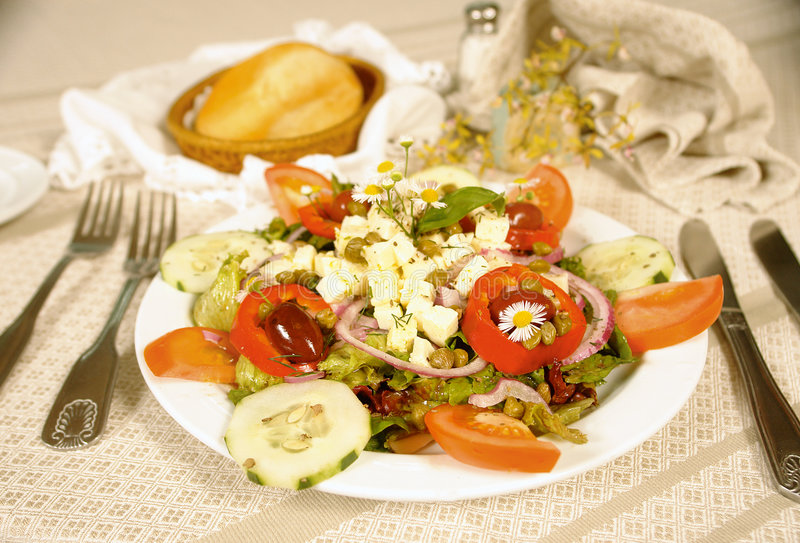Download Goat cheese salad stock image. Image of kitchen, slice - 6692963