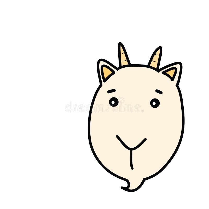 Free Goat Face Cartoon Drawing Royalty Free Stock Photo - 48853295