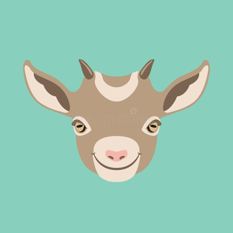 Free Goat Face Head Vector Illustration Flat Style Front Royalty Free Stock Photo - 114925405