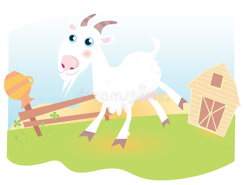 Download Goat on farm stock vector. Image of field, green, humor - 9018037