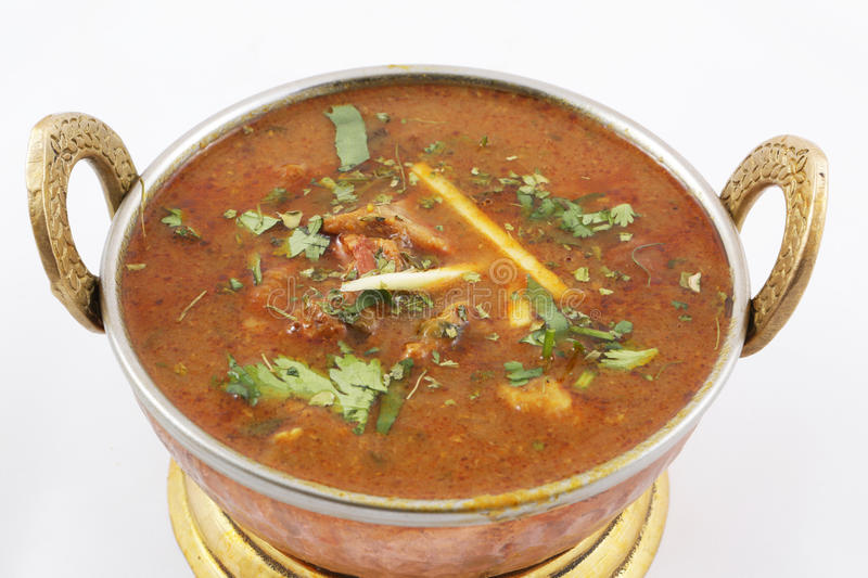 Goat meat curry royalty free stock images