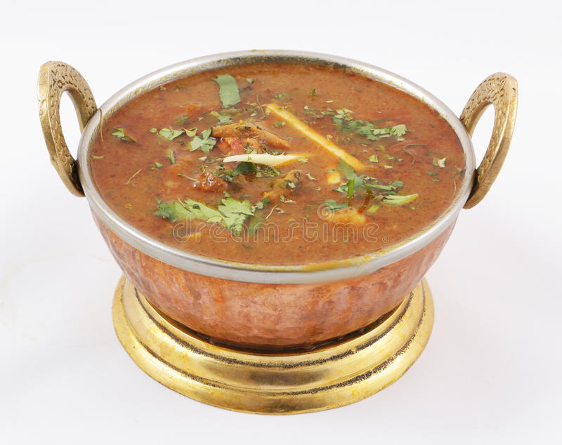 Goat meat curry stock images