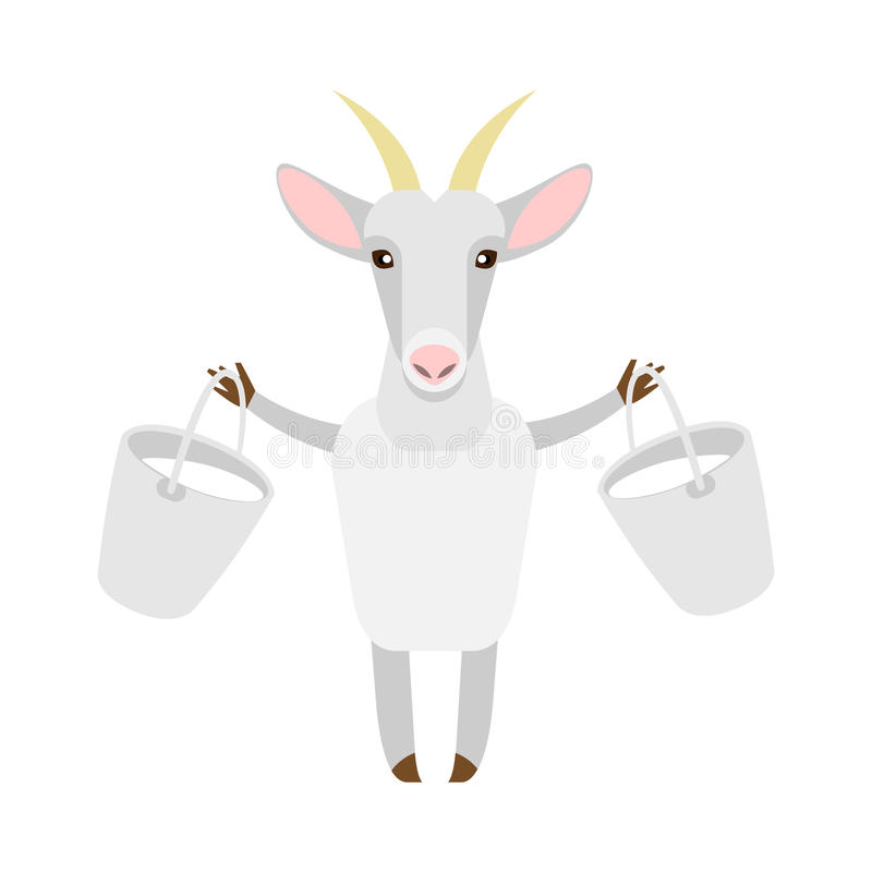 Goat with milk. Illustration of a goat on a white background vector illustration