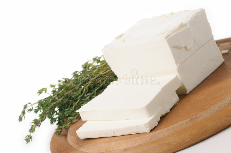 Goat's milk cheese royalty free stock photography