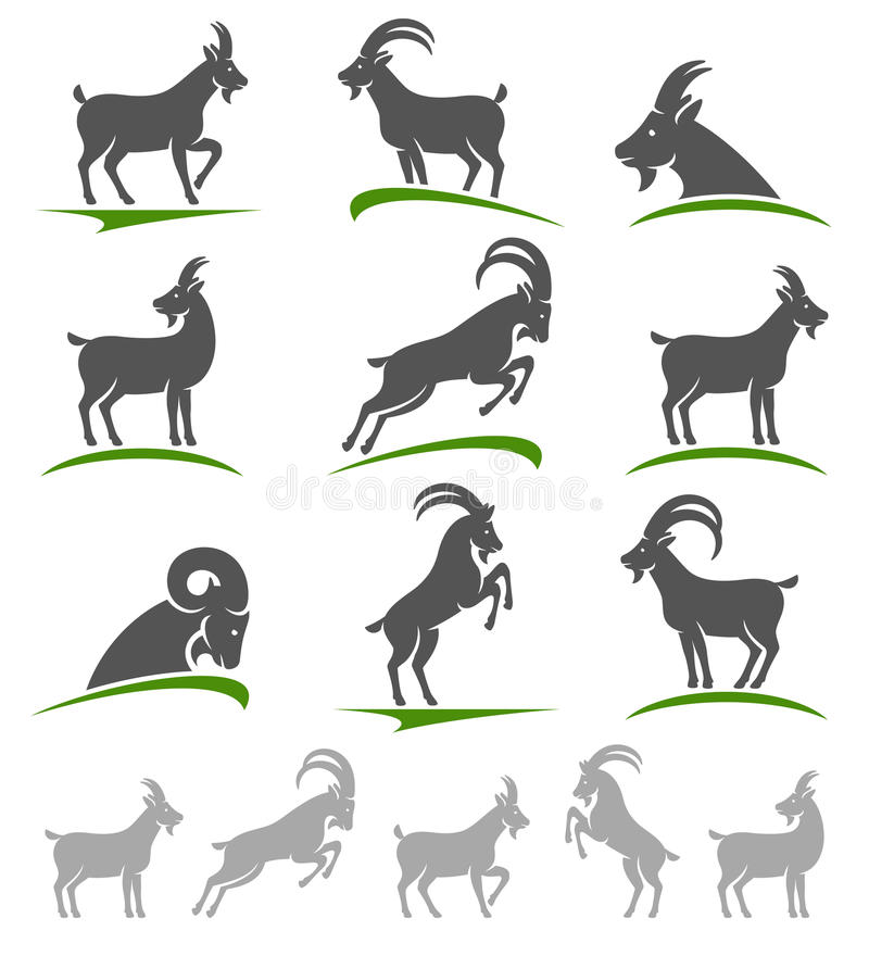 Free Goat Set. Vector Royalty Free Stock Photo - 49177215