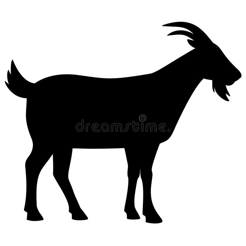 Goat Silhouette. A vector illustration of a Goat silhouette royalty free illustration