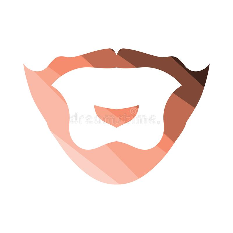 Goatee icon. Flat color design. Vector illustration vector illustration