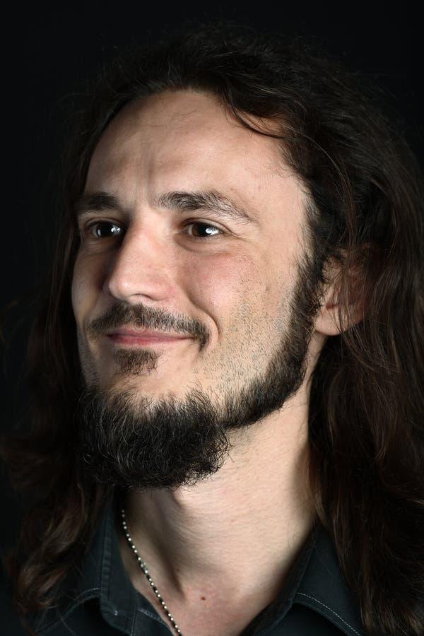 goatee mężczyzna portreta strony potomstwa zdjęcia stock
