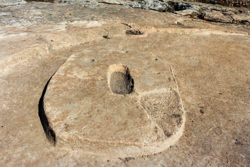 Gobekli Tepe abaixa o templo fotos de stock