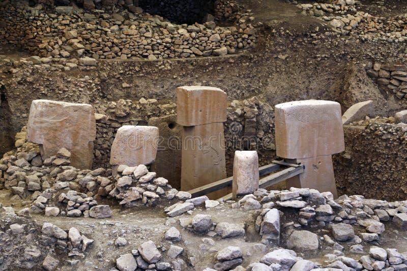 Gobeklitepe antic city. In Urfa, Turkey stock photos