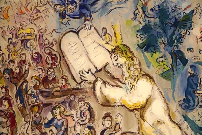 Gobelänger av Marc Chagall royaltyfri bild