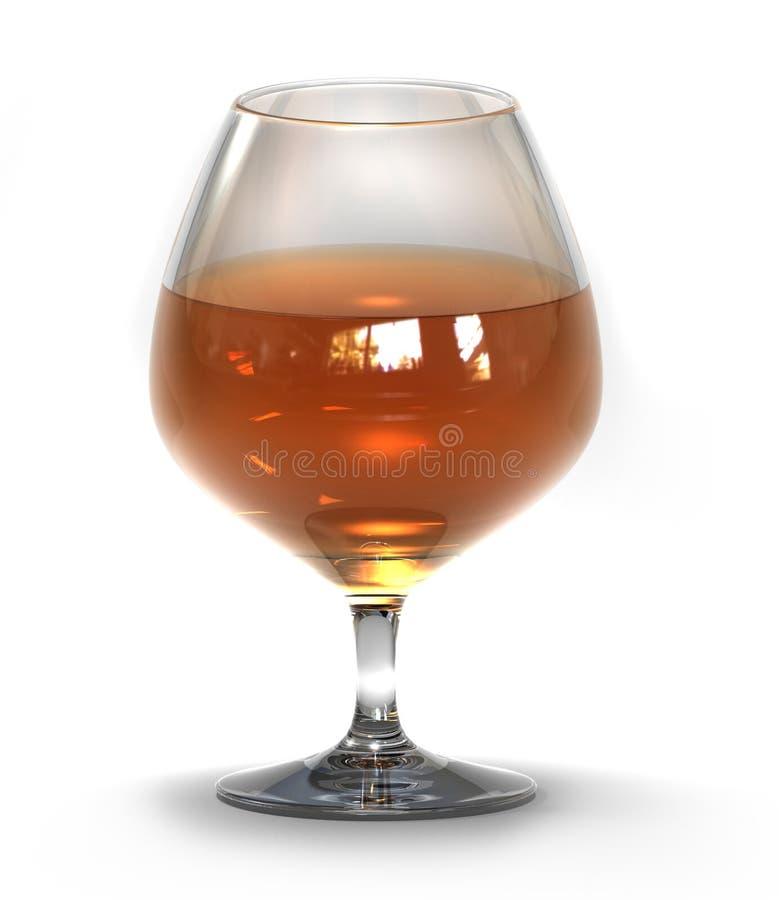 Gobelet avec le cognac (rendu 3d) illustration stock