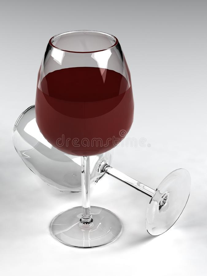 Gobelet de vin photographie stock