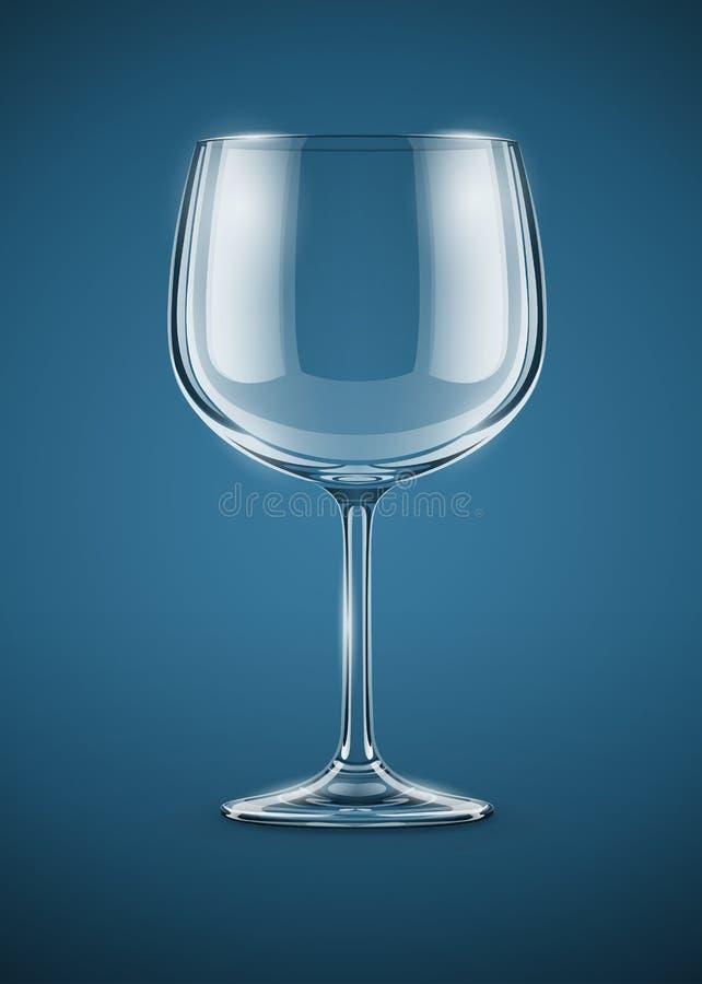 Gobelet en verre pour la boisson de vin illustration stock