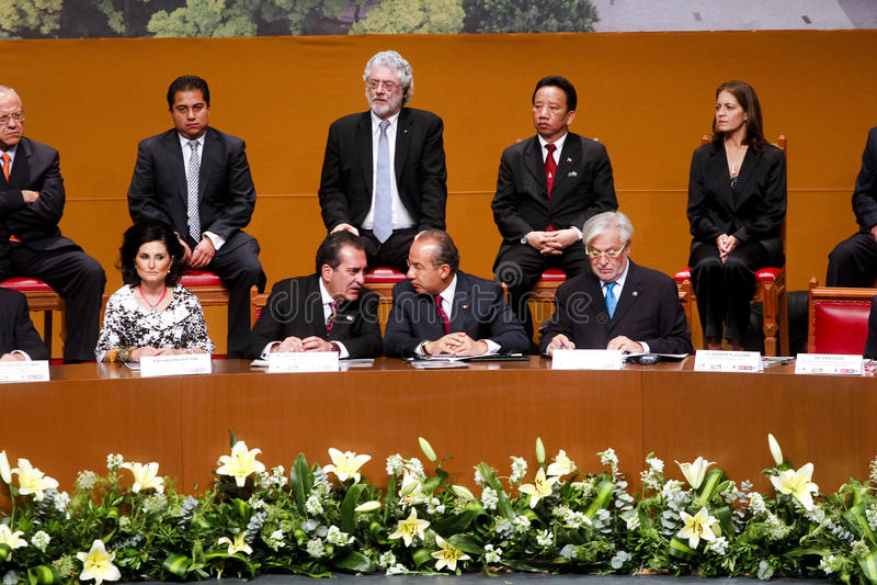 Gobernador de Aguascalientes presidente de un Mexicos foto de archivo