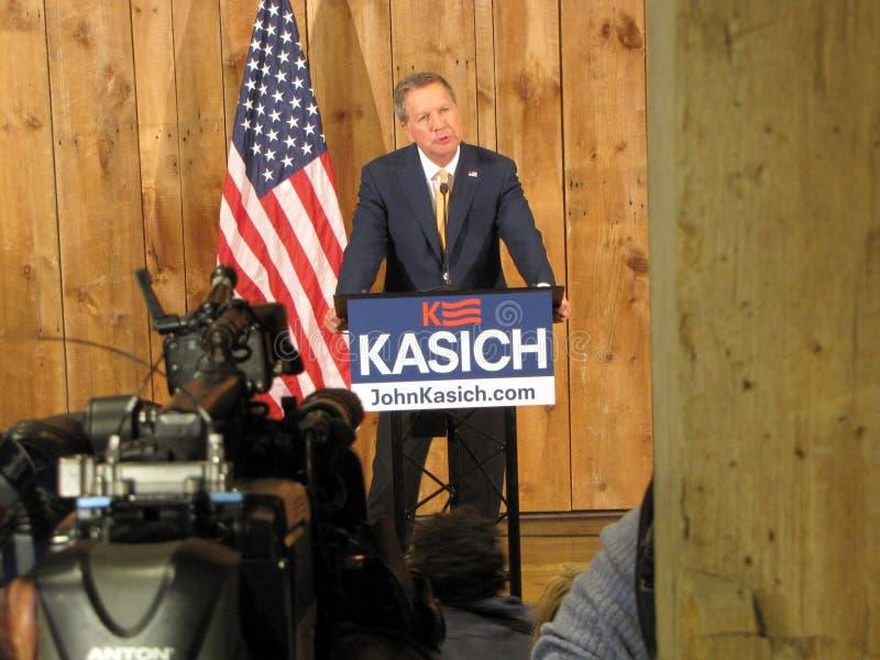 Gobernador Kasich Officially Suspends su campaña presidencial 2016 fotografía de archivo libre de regalías