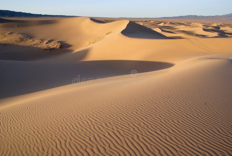 Gobi desert. Sands dunes on gobi desert in Mongolia royalty free stock images