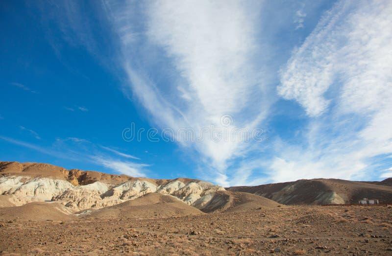 Gobi Desert. Among the rocky hill of dunes in the Gobi Desert stock images