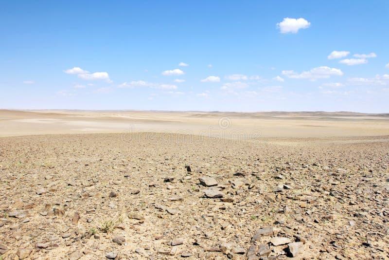 Gobi desert. Mongolian landscape in the Gobi desert stock image