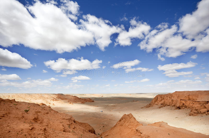 Gobi Desert landscape. In Mongolia. grim picture royalty free stock photography