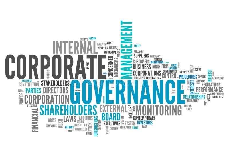 Gobierno corporativo de la nube de la palabra ilustración del vector
