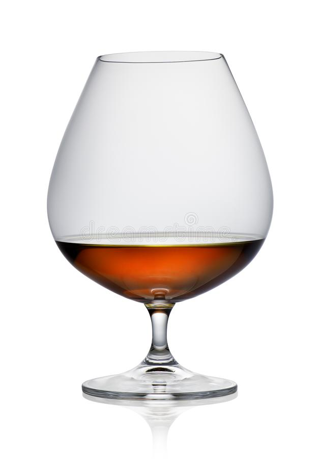 Goblet of cognac isolated stock photos